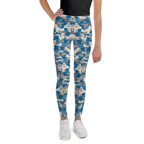 Blues Camo Teen Leggings