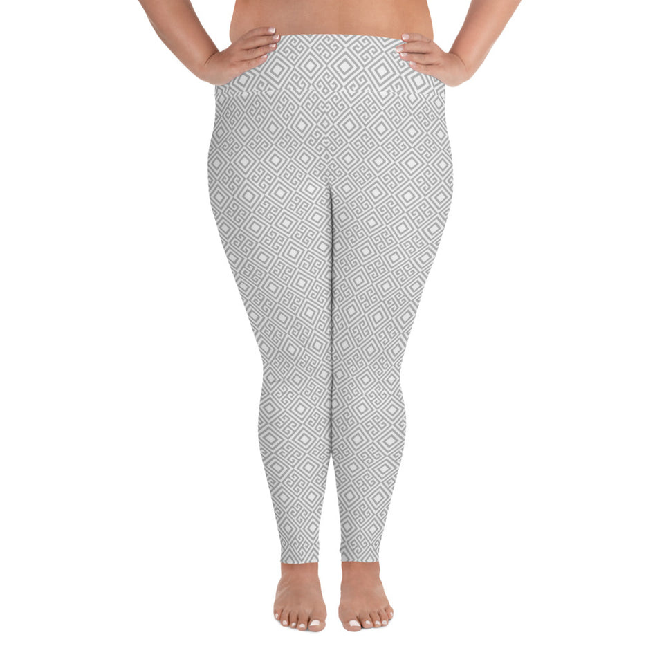 clarity-geometric-white-grey-elegant-chic-plus-size-leggings-women