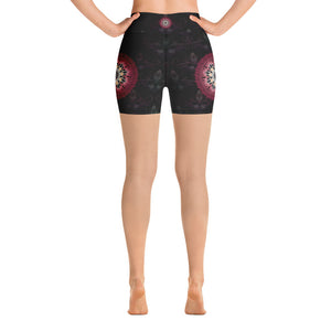 black-and-redish-pink-mandala-chic-yoga-shorts-shop