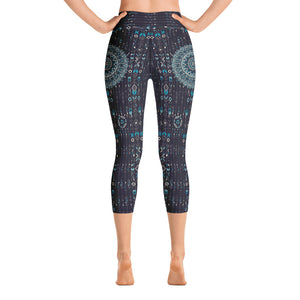 aztec-mandala-navy-blue-jade-green-yoga-capri-leggings-women