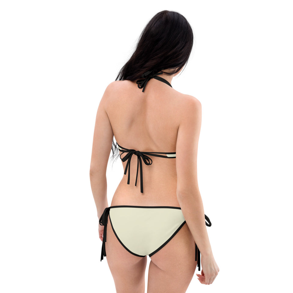 Cobra Skin and Light Beige Reversible Bikini