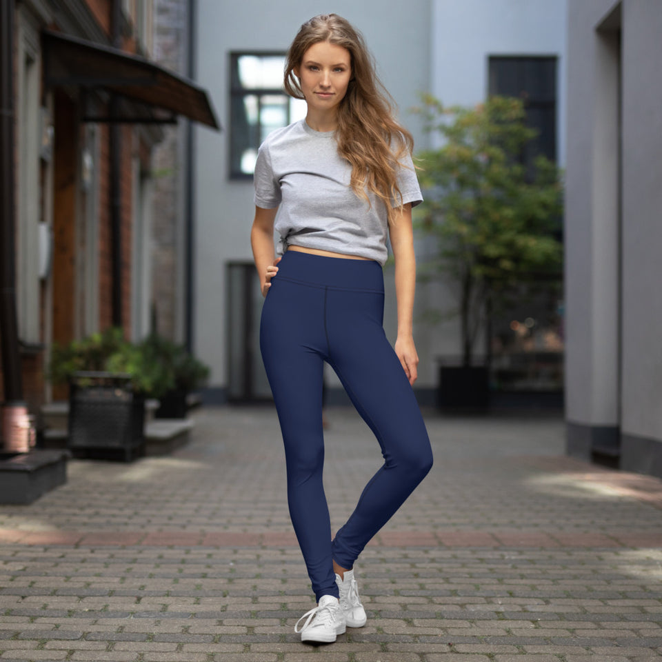 solid-dark-blue-basic-color-yoga-leggings