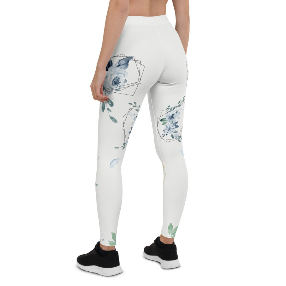 Roses-white-blue-green-gold-elegant-women-urban-leggings-4