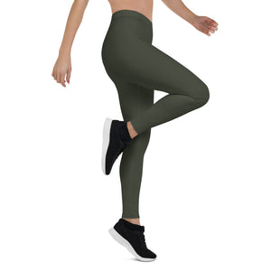 woman-chic-olive-green-leggings