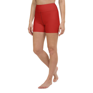Crimson Red Yoga Shorts