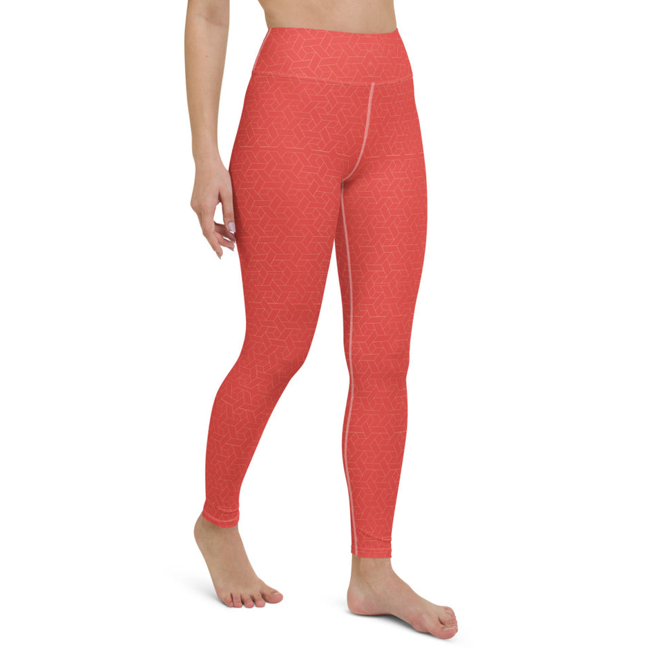 coral-red-women-yoga-leggings-3