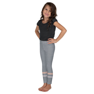 Gray-Cream-sporty-stripes-kids-leggings