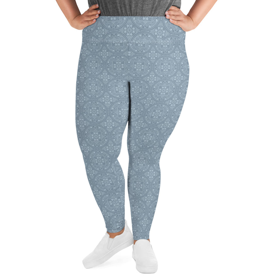 dreamin-icy-mandala-geometric-winter-plus-size-leggings