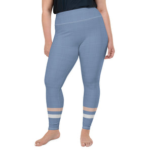 light-blue-cream-ivory-sporty-stripes-elegant-women-plus-size-leggings-shop