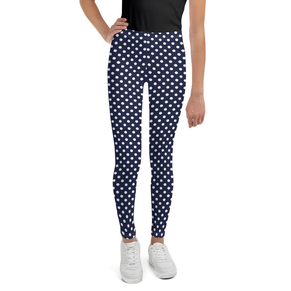 Polka-Dots-navy-white-youth-teens-leggings-chic