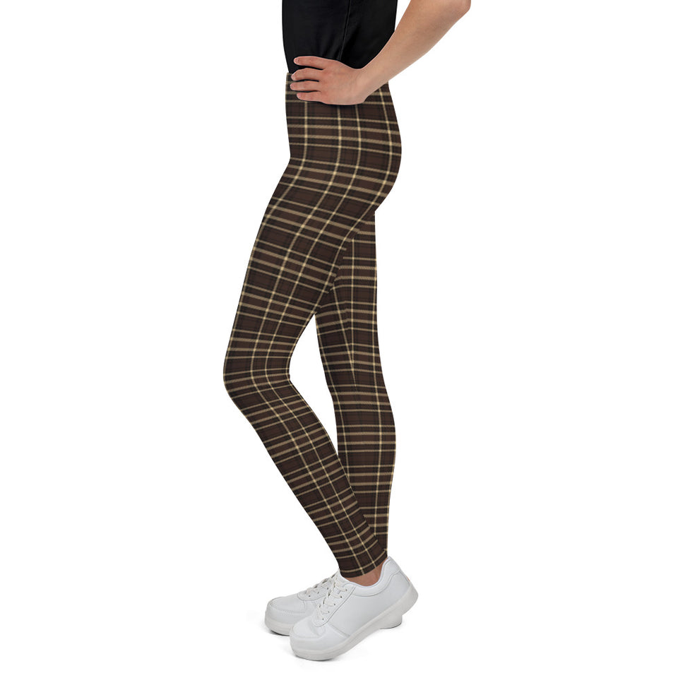 Tartan-brown-yellow-elegant-classic-leggings-youth-shop-1