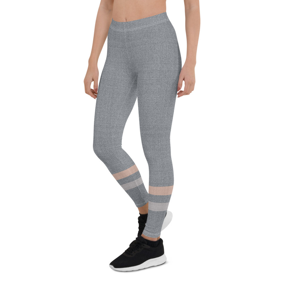 Gray-Cream-sporty-stripes-leggings