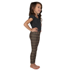 Tartan-brown-yellow-elegant-classic-leggings-kids-shop-girls