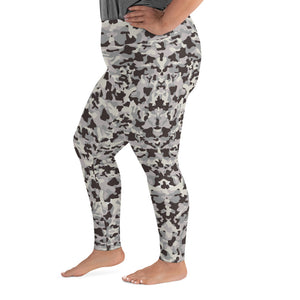Gray Camo Super Curvy Leggings