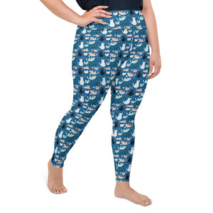 cats-blue-green-black-white-cream-plus-size-leggings-chic