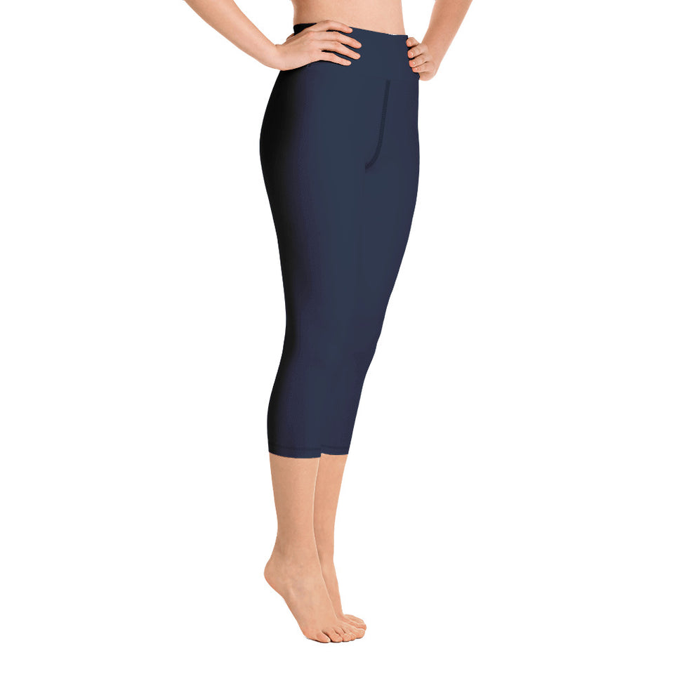 chic-navy-blue-capri-leggings-for-women
