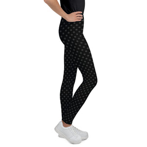 polka-dots-black-and-charcoal-gray-leggings-youth-shop