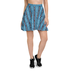 Bohemian Roses Skater Skirt for Women