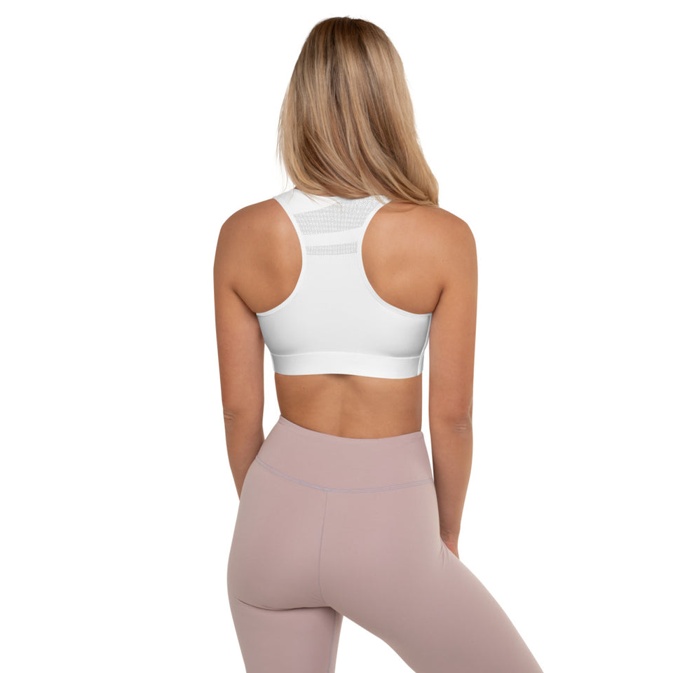 Silhouette White Padded Sports Bra