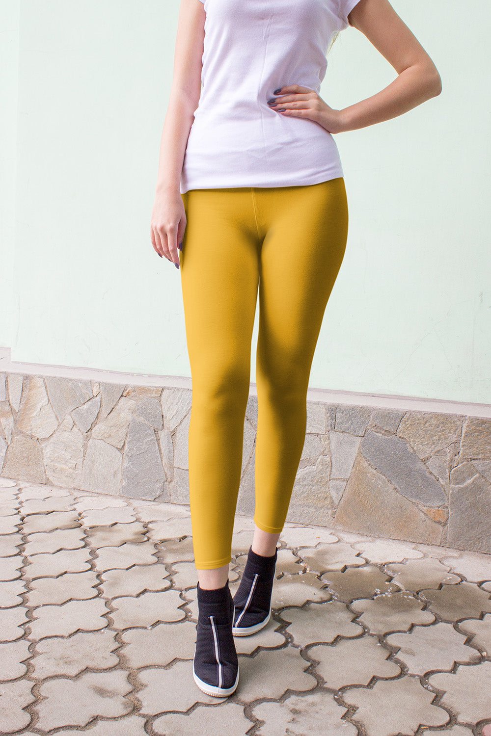 mustard yellow teen leggings neutral for girls