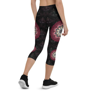 black-and-redish-pink-mandala-chic-urban-capri-leggings-shop