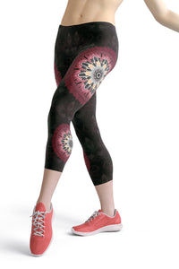 night-devi-black-and-redish-pink-mandala-chic-urban-capri-leggings
