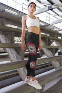 night-devi-black-and-redish-pink-mandala-chic-urban-leggings
