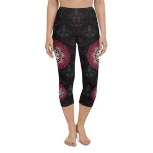 black-and-redish-pink-mandala-chic-yoga-capri-leggings