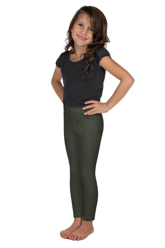 shop-olive-green-kids-leggings-for-girls