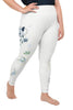 Roses-white-blue-green-gold-elegant-women-plus-size-leggings-1