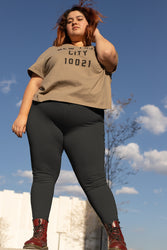 Charcoal Gray Super Curvy Leggings