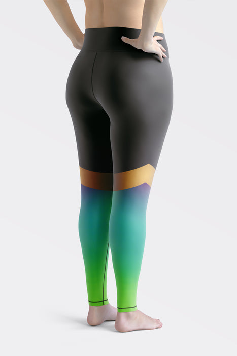 Shine Green Super Curvy Leggings