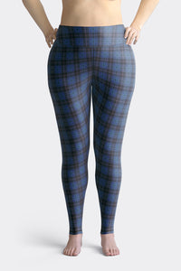 navy-blue-pink-tartan-classic-elegant-beautiful-plus-size-leggings-women-chic