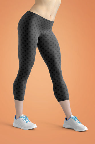 polka-dots-charcoal-gray-black-urban-capri-leggings
