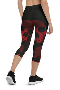 Halloween Red Death Urban Capri Leggings