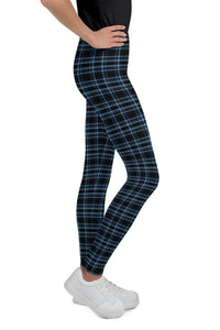 rockstar-tartan-blue-black-leggings-for-teen-girls
