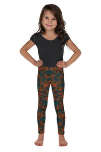 Rust Camo Kid's Leggings