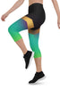 Shine Green Urban Capri Leggings