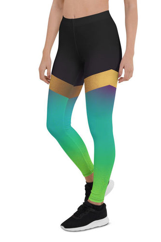 Shine Green Urban Leggings