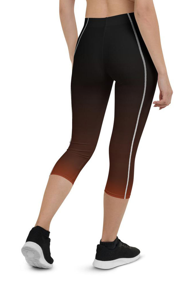 Sporty Stripes II Rusty Urban Capri Leggings