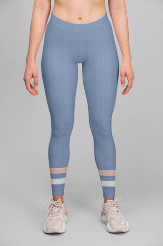 light-blue-cream-ivory-sporty-stripes-elegant-women-urban-leggings