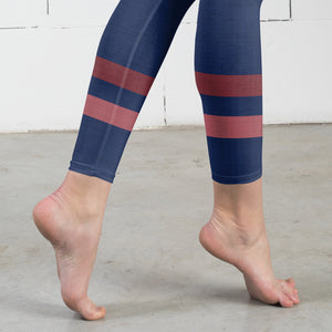 dark-blue-pink-sporty-stripes-elegant-women-urban-leggings