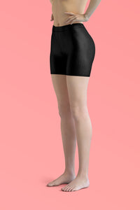 black-basic-color-urban-shorts