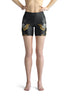Flowers-black-grey-yellow-gold-women-urban-shorts-flora