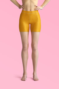 mustard yellow shorts for women