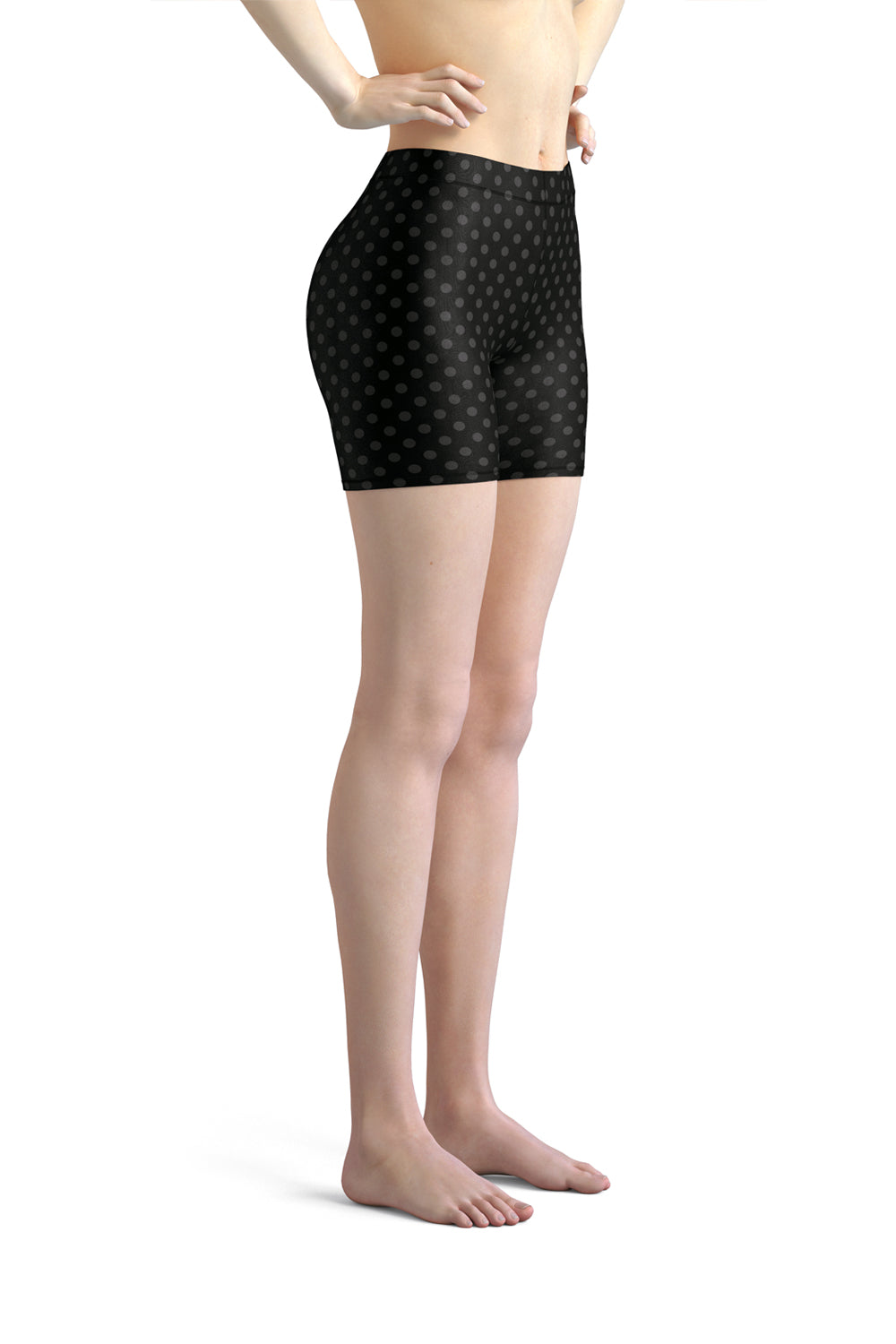 polka-dots-black-and-charcoal-gray-urban-shorts