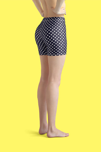 polka-dots-navy-blue-white-urban-shorts-women