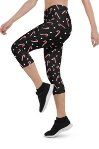 Christmas Candy Urban Capri Leggings