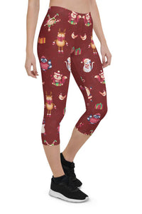 Christmas Joy Urban Capri Leggings