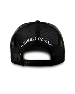 Almost Home X Keiser Clark Men's and Women's Black Trucker Hat Designed by Alex Fine and Marc Keiser